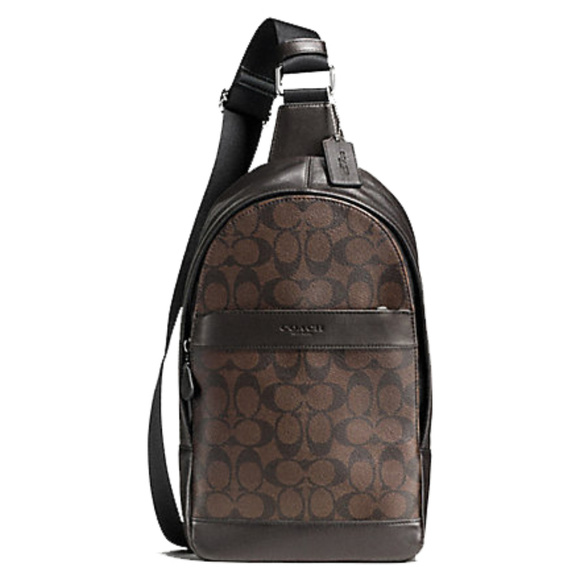 378ce7b83 Coach Bags | Mens Leather And Pvc Crossbody Backpack | Poshmark